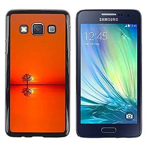 Paccase / SLIM PC / Aliminium Casa Carcasa Funda Case Cover para - Sunset Orange Tree Horizon - Samsung Galaxy A3 SM-A300