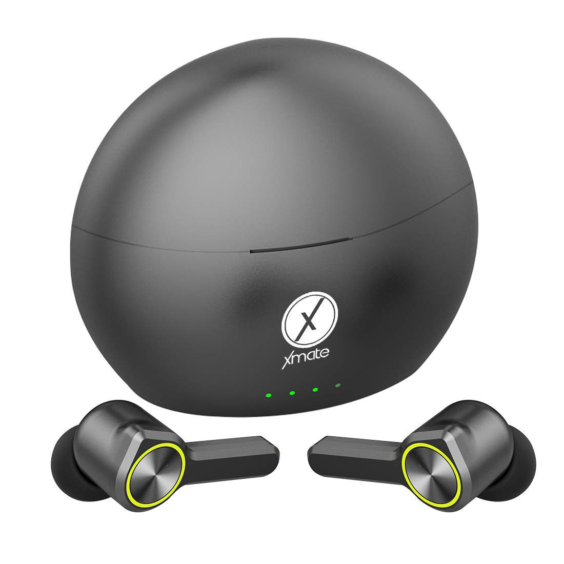 Xmate Buzz in-Ear Touch Control True Wireless Bluetooth Headphones (TWS) with Mic - (Black/Green)