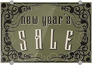 CGSignLab Victorian Gothic Premium Brushed Aluminum Sign New Years Sale 18x12 5-Pack