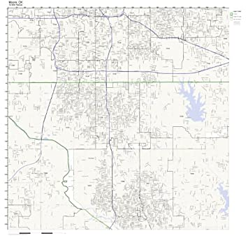 Amazon.com: Moore, OK ZIP Code Map Laminated: Home & Kitchen