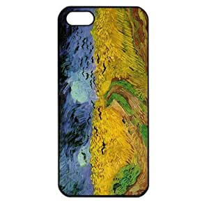 Vincent van Gogh oil painting Wheatfield with Crows Apple iPhone 5 TPU Soft Black or White case (Black)