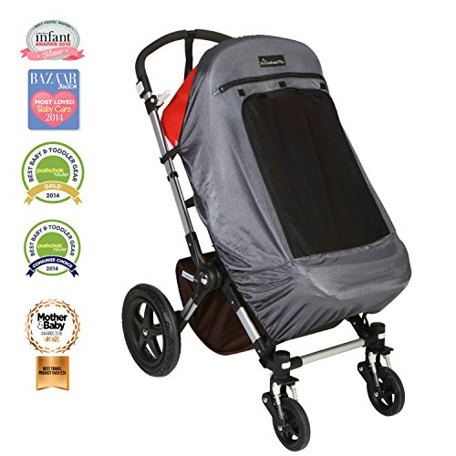 Stroller Sunshade - Snoozeshade Plus Deluxe Sunshade and Baby Sleep Aid for Single Strollers/Joggers/Prams