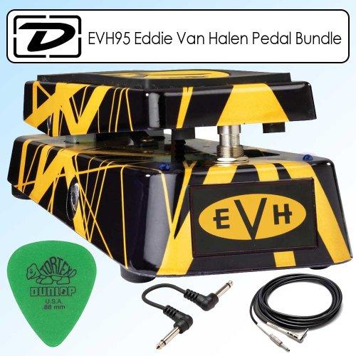 (Dunlop EVH95 Eddie Van Halen Signature Series Wah Wah Pedal Bundle)