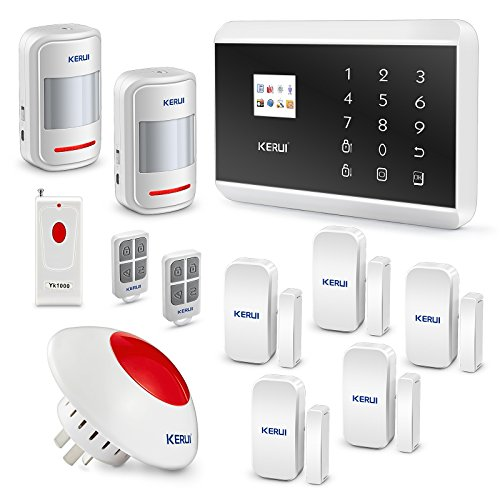 KERUI 8219G Wireless 3G Home Smart Security Alarm System WCDMA PSTN DIY Kit - Auto Dial APP Remote Control+Wireless Loud Flashing Siren KERUI