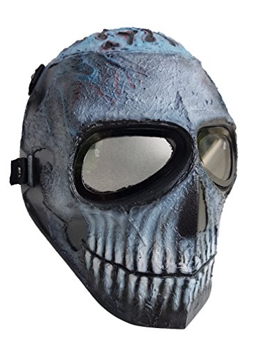 [Invader King ™ Spawn Army of Two Airsoft Mask Protective Gear Outdoor Sport Fancy Party Ghost Masks Bb] (Making A Scarecrow Costume)