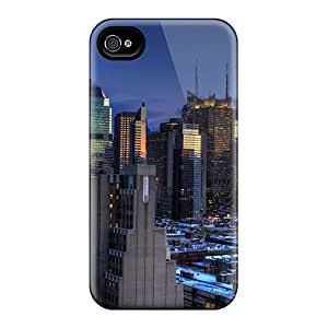 For Iphone 4/4s Protector Case Amazing Manhattan Cityscape Phone Cover