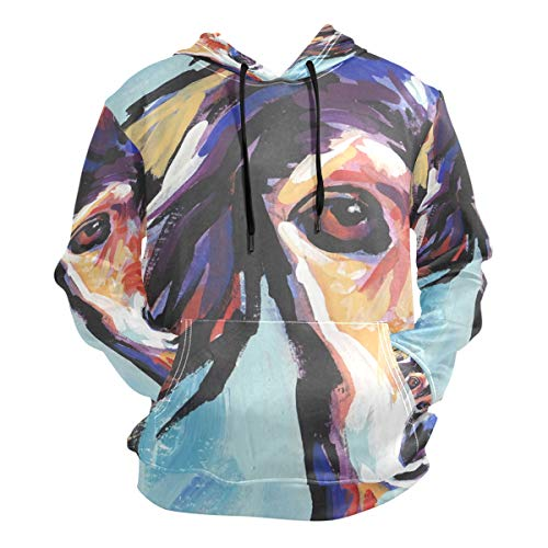 Unisex 3D Saluki Hound Print Hoodies Sweatshirts Long-Sleeved Pullover with Pocket L