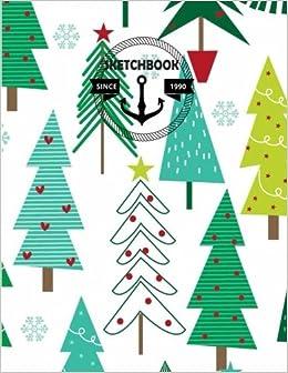 Drawing Christmas Tree Sketch.Amazon Com Sketchbook Sketchbook Christmas Tree 110