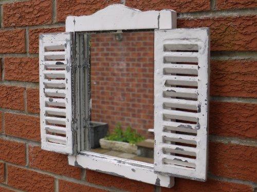 Simple Shutter Mirror by Garden Sculptures & Ornaments by Garden Sculptures & Ornaments