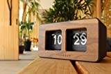 +LUMBER by Hacoa PL029 Desk FLIP Clock, Retro Clock with Classic Flip-Down Display and Wood