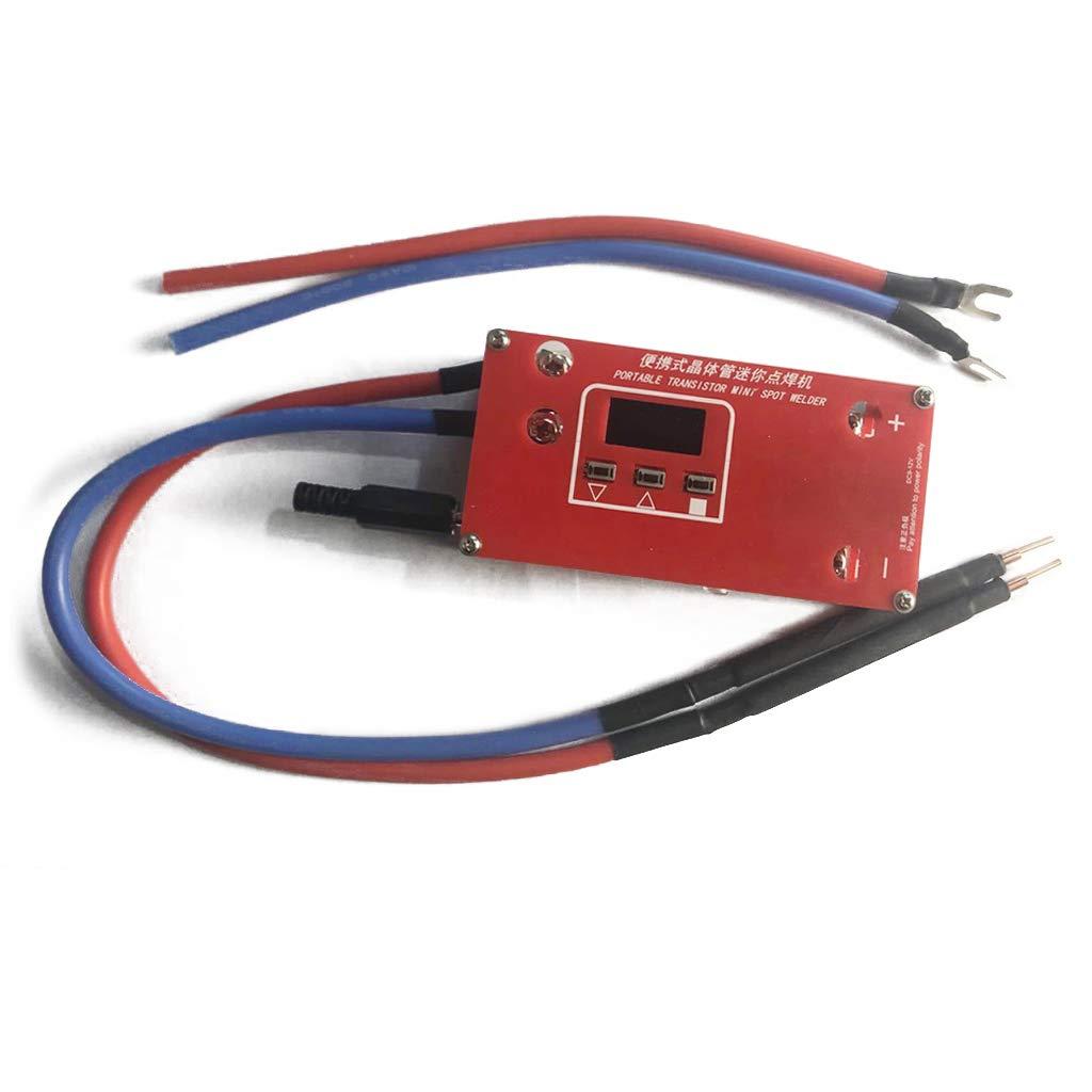 Kecheer Portable Mini DIY Spot Welding Machine 5 Gears Adjustable for 18650 21700 32650 Lithium Battery Support 0.1-0.15mm Nickel Sheet Handheld DIY 18650 Spot Welder Tool