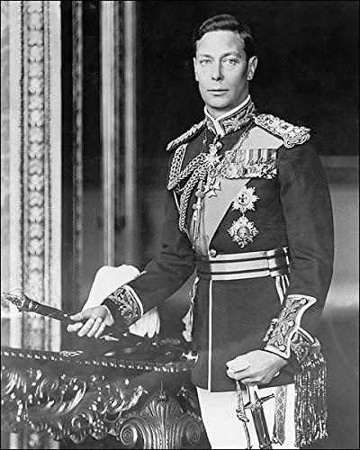 Great Britain King George VI Portrait WWII 8x10 Silver Halide Photo Print