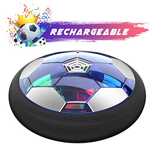 WisToyz Kids Toys Hover Soccer Ball Rechargeable Air Soccer, Soccer Ball Indoor Floating Soccer with LED Light and Foam Bumper, Perfect Time Killer for Boys, Girls, Toddler (No AA Batteries Needed)]()