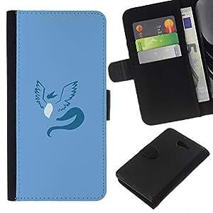YiPhone /// Tirón de la caja Cartera de cuero con ranuras para tarjetas - Articuno P0kemon Mínimo - Sony Xperia M2