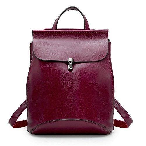Ecole Dos Poches Bandoulière Femme en Travail Fille Sac à Zicac Cuir Mode pour Multi Rouge Vintage Petit Sac tqZg7w0