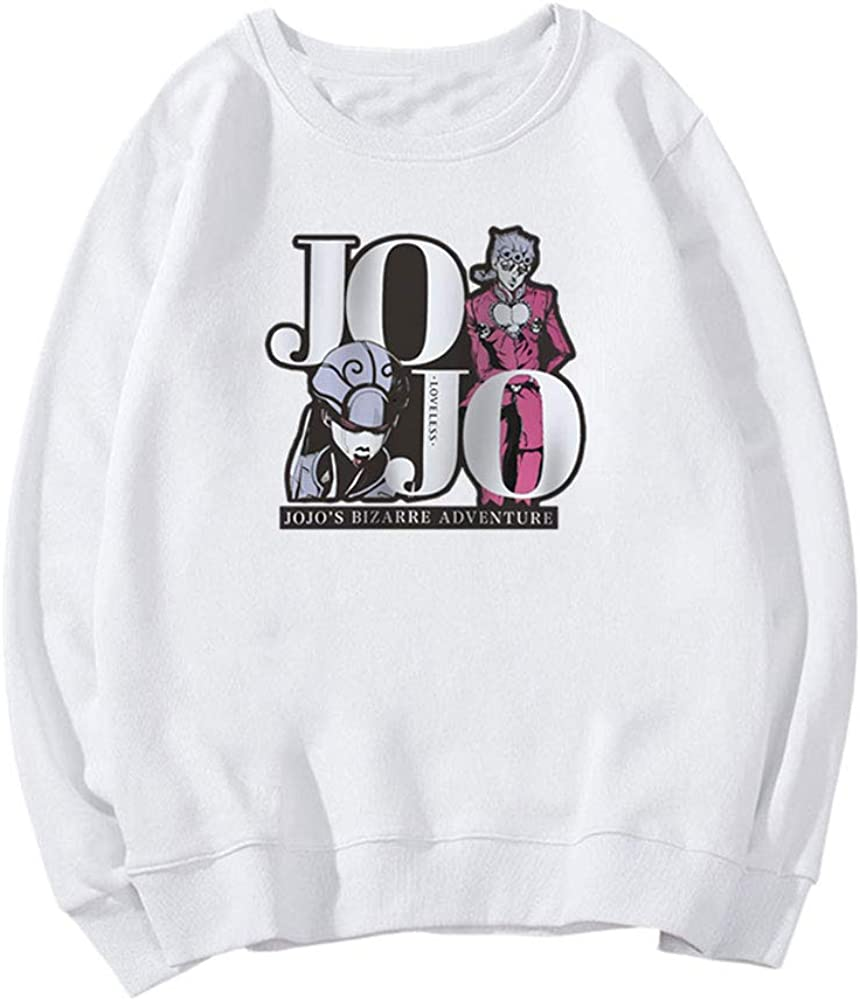 ZZAOO JoJos Bizarre Adventure Round Neck Sweatshirt,Giorno Giovanna Unisex Pulls Imprim/és pour Cadeau D/'Anniversaire