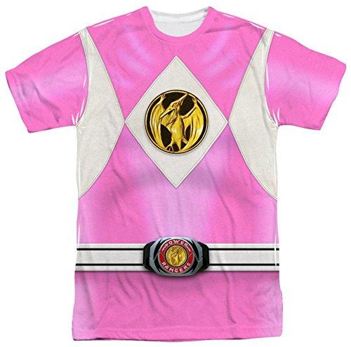 Power Rangers - Pink Ranger Emblem T-Shirt Size L