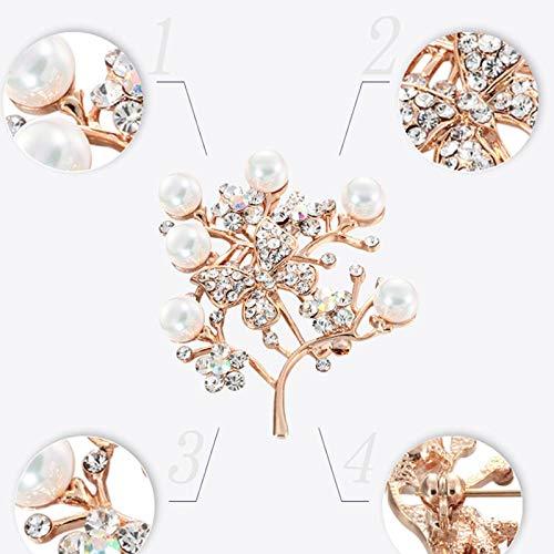 4cm Doitsa 1pcs Broche Perle Forme de Papillon Broche en Strass Broche Bijoux pour V/êtement 4.5