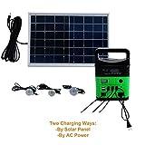 UPEOR 10-Watt Portable Generator Power Inverter, Solar Generator System for Camping Home, 9000mAh Removable Battery, Emergency Power Supply with 6 Watt Solar Panels