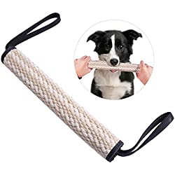 "UEETEK Dog Bite Tug Toy with 2 Handles for Tug of War,Interactive Pull Toy Training Bite Pillow (11.8""/30cm Long)"