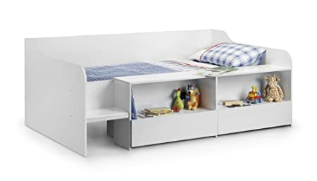 with rail kids oak bed aspenn steps solid cabin drawer white products beds