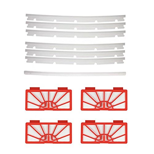 4 Hepa Filters & 6 Blades and 1 Squeegee for Neato XV-11 XV-12 XV-14 XV-15 XV-2 Vacuum Cleaner Accessories Replacement
