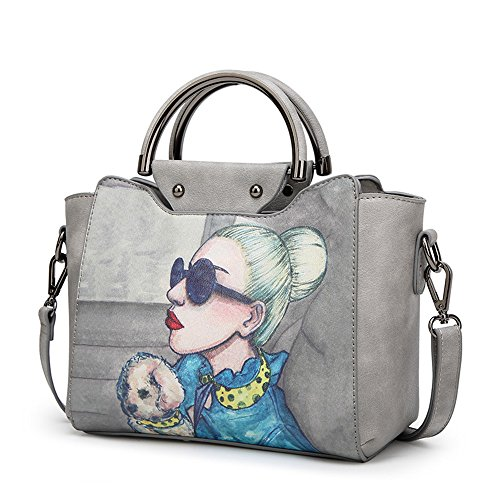 Shoulder Bag Large Wild blue Messenger Bag FangYOU1314 Atmosphere Capacity Hand Gray Simple Light Color IEw8ZqfxU