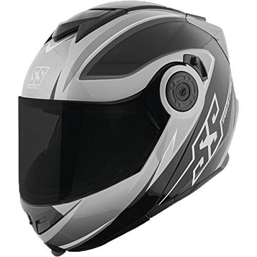 (Speed and Strength SS1710 Split Decision Men's Street Motorcycle Helmet - Black/Grey / 2X-Large)