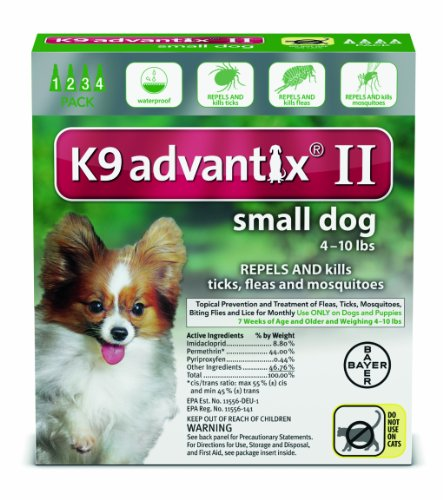 Advantix Dog Green 0-10# 4Pk 12 (Pack 4 Green Advantix)