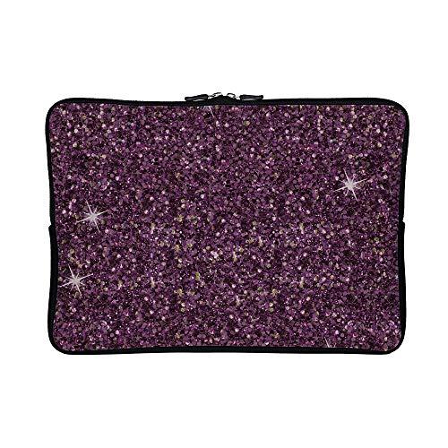 DKISEE Abstract Purple Glitter 01 Neoprene Laptop Sleeve Case Waterproof Sleeve Case Cover Bag for MacBook/Notebook/Ultrabook/Chromebooks