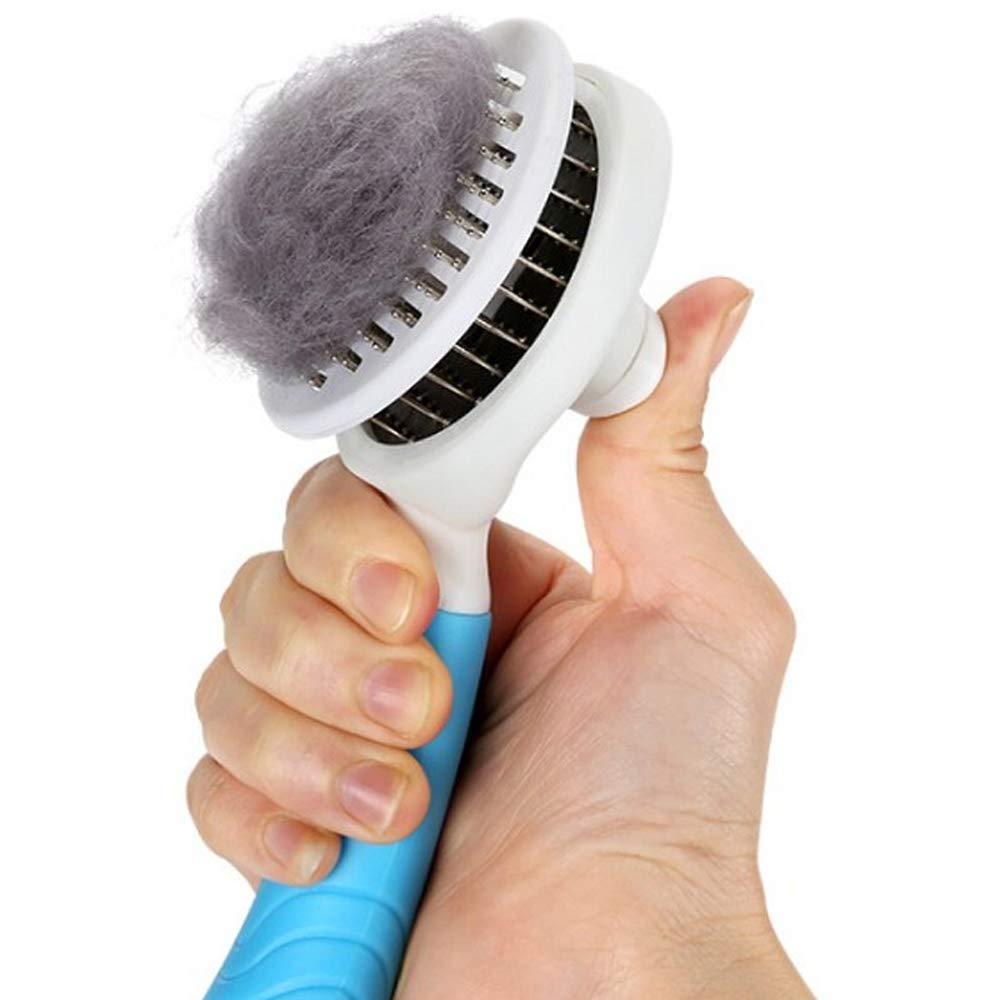 bluee Pet Brush Dog Comb cat Comb pet Comb pet Supplies (color   bluee)