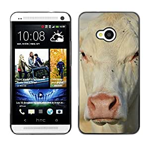 Hot Style Cell Phone PC Hard Case Cover // M00111858 Cow Animal View Farm White Milk // HTC One M7