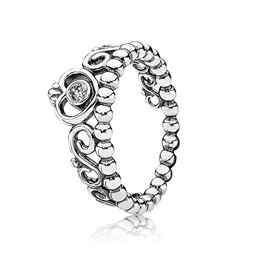 Pandora Jewelry Princess Tiara Crown Cubic Zirconia Ring In Sterling Silver