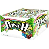 Sour Punch Rainbow Sour Candy Straws 2 Oz Trays (Pack of 24)