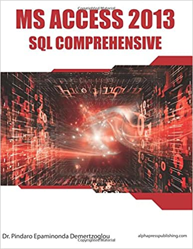 MS Access 2013 SQL Comprehensive