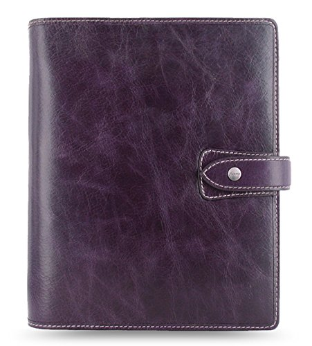 Filofax Malden A5 Leather Organizer Agenda, 2016 Calendar, Purple 025851