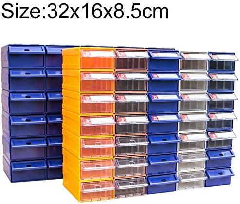 HZG 肥厚複合プラスチック部品キャビネット引き出しタイプコンポーネントボックスビルディングブロックの材質ボックスハードウェアボックス、ランダムな色配達、サイズ:32センチメートルX 16センチメートルX 8.5センチメートル 職人スペシャルパッケージ