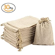 """ANPHSIN 30 Packs Burlap Bag with Drawstring - 6.82 """" x 4.81"""" Gift Bag Jewelry Pouches Sacks for Wedding Favors, Party, DIY Craft and Christmas"""
