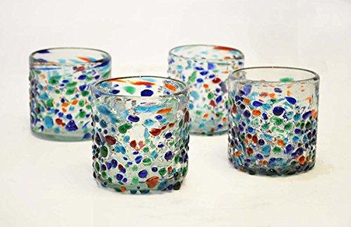 set-of-4-double-old-fashion-rocks-glasses-bumpy-confetti-14-ounces