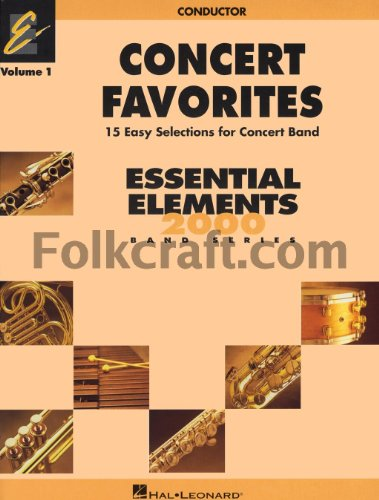 Hal Leonard Concert Favorites Vol1 Bb Bass Clarinet (Hal Clarinet Marching Leonard)