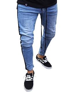 ShiFan Herren Ripped Jeans Hose Stretch Jeanshose mit Reißverschluss ... 6b18700689