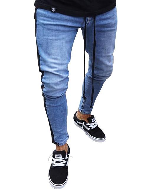 Pantalones Rajados Hombre Slim Fit Stretch Skinny Vaqueros ...