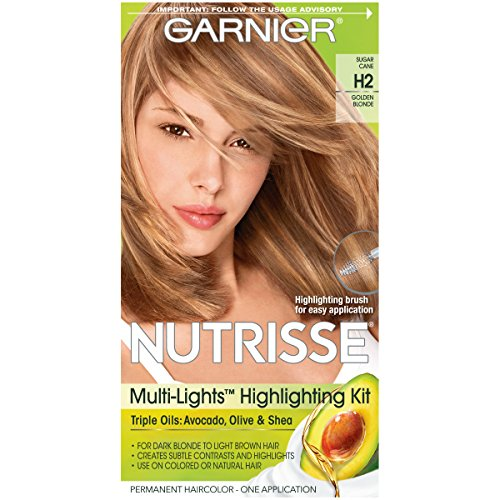 Garnier Nutrisse Nourishing Hair Color Creme, H2 Golden Blonde  (Packaging May Vary)