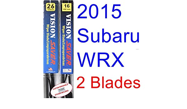 Amazon.com: 2015 Subaru WRX Replacement Wiper Blade Set/Kit (Set of 2 Blades) (Saver Automotive Products-Vision Saver): Automotive