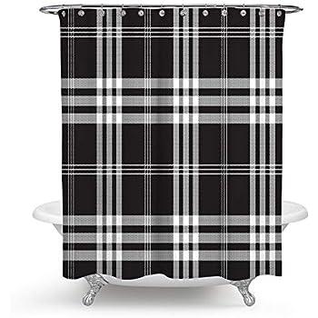 Amazon Com Plaid Shower Curtain Lumberjack Fashion