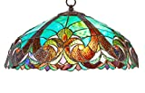 New Galaxy Lighting Tiffany Style Stained Glass Hanging Lamp Ceiling Fixture TL16012 - 18-inch wide