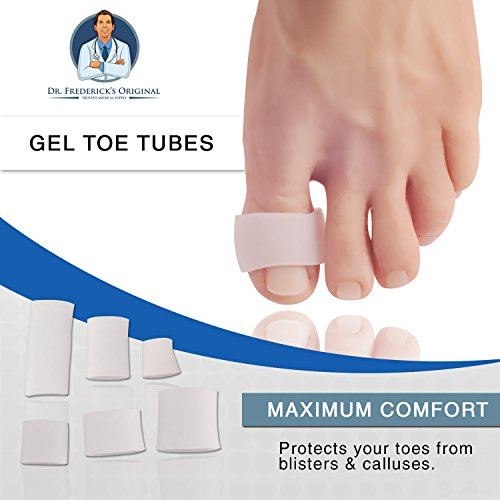 Dr Frederick's Original Gel Toe Tubes 12 Piece Variety Pack - Small, Medium and Large Sizes - Toe Protectors & Separators for Calluses - Blisters - Corns by Dr. Frederick's Original (Image #7)
