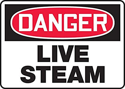 14 Wide LegendDANGER Live Steam Aluminum Red//black On White 10 x 14 10 Length 10 Length x 14 width x 0.040 Thickness 10 Height Accuform MCHL043VA Aluminum Sign