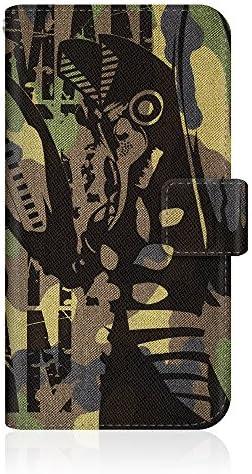 CaseMarket 【手帳型】 docomo Galaxy S20 5G SC-51A スリムケース ステッチモデル [ CaseMarket ウルトラマン スマートフォンケース シリーズ - バルタン星人 迷彩デザイン ] レザー手帳 ステッチ & ストラップホール
