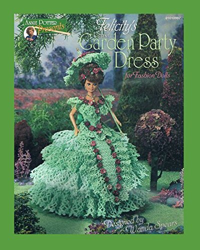 Crochet Felicity's Garden Party Dress crochet doll dress pattern by Annie Potter by_1anniepotter